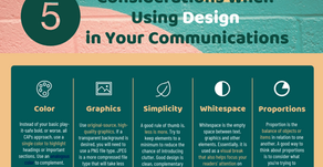5 Considerations When Using Design in Your Communications - Infographic