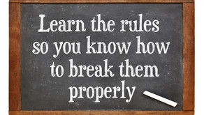 Writing Tip: Writing and rule breaking