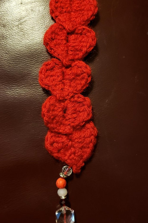 """Hearty"" Crochet Bookmark"