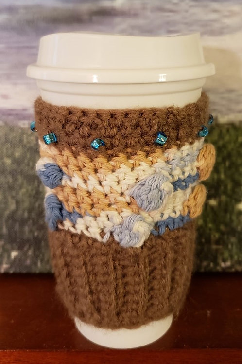 Coastal Collection Crochet Cup Cozies