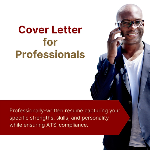 Cover Letter for Professionals