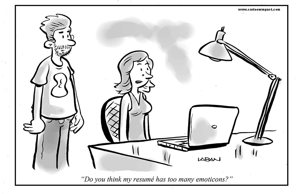 Resume writing cartoon