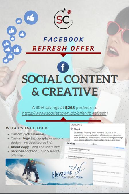 Facebook Refresh Offer