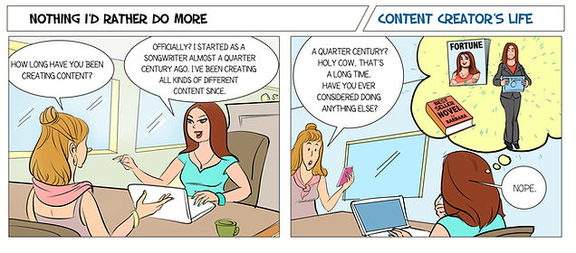 Comic strip of Barbara Roy, Scarlettown Communications Content Creator