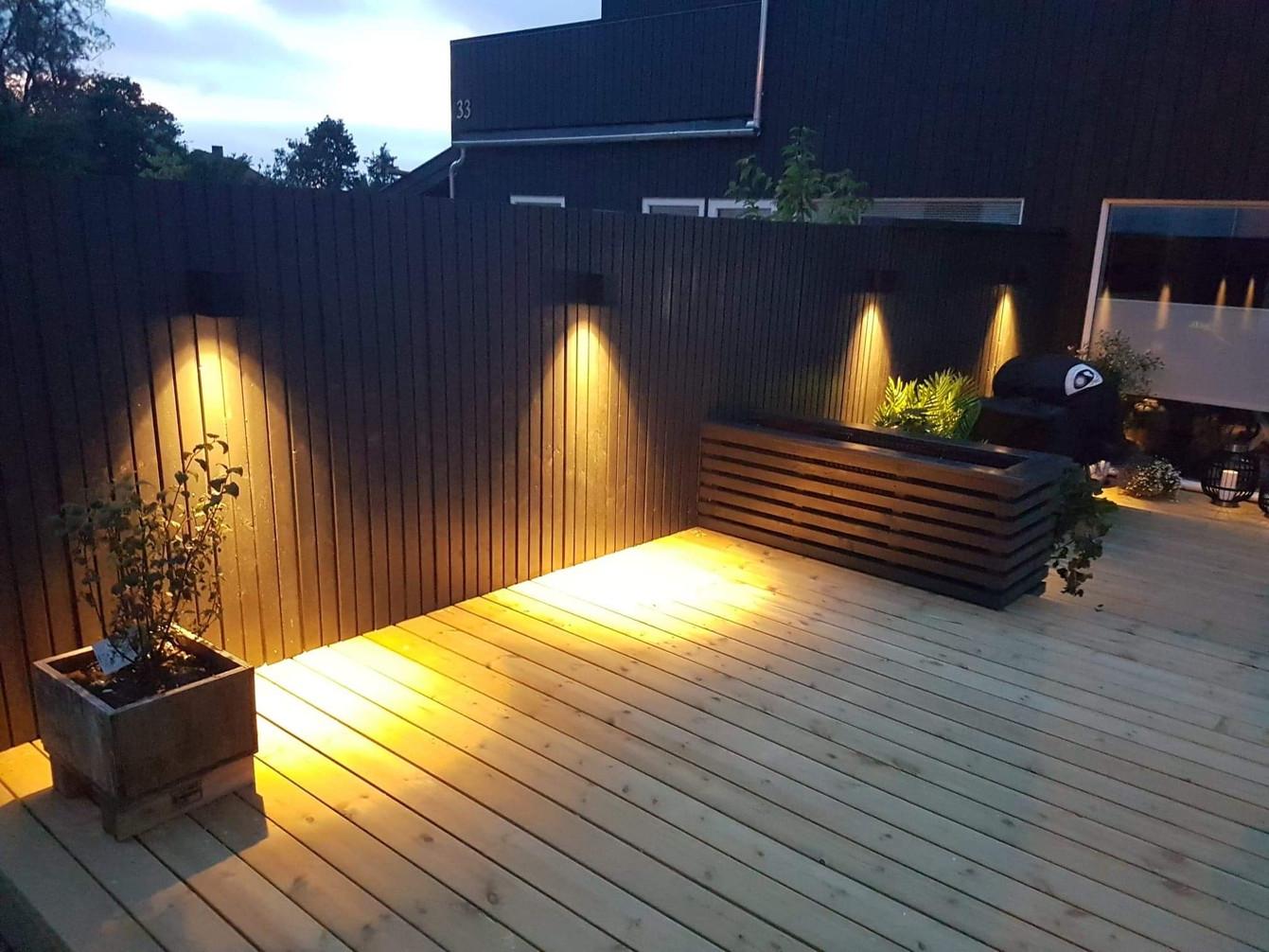 Utelys terrasse