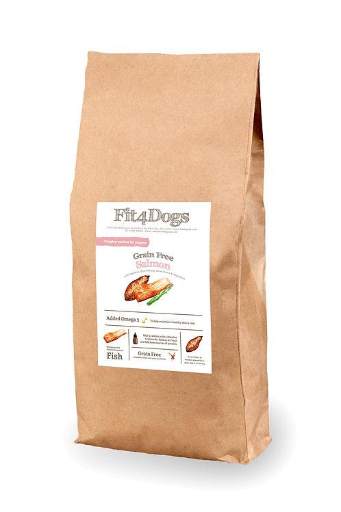 Puppy Grain Free salmon w Haddock, Blue whiting, Sweet potato & Asparagus