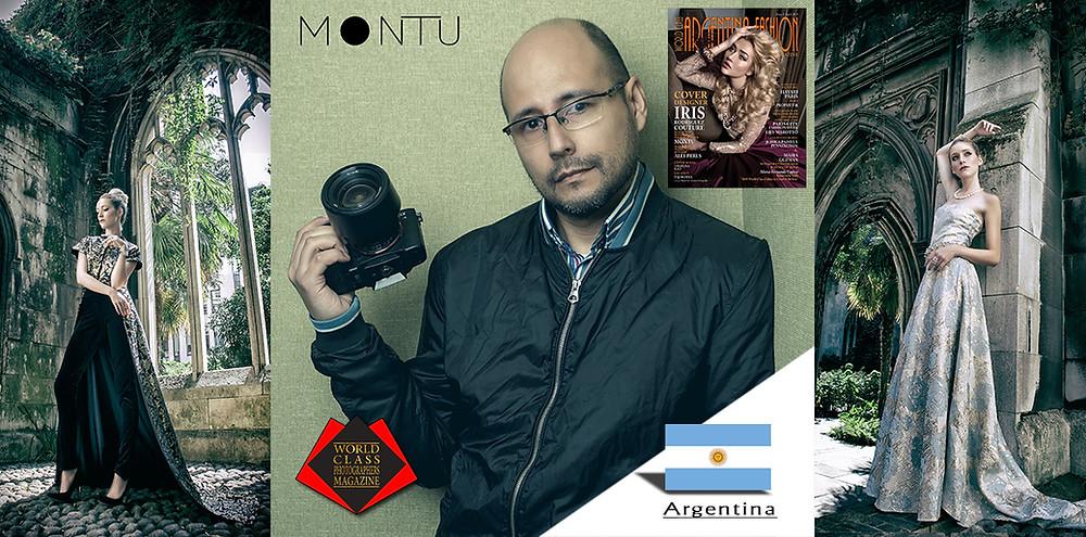 Argentinian Photographer Montu, World Class Photographers Magazine, Designer Iris Rodriguez Couture