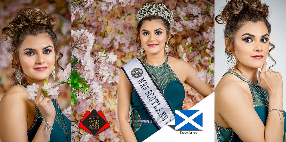 Rashmi Rai Mantha Mrs Scotland Universe 2019, World Class Beauty Queens Magazine
