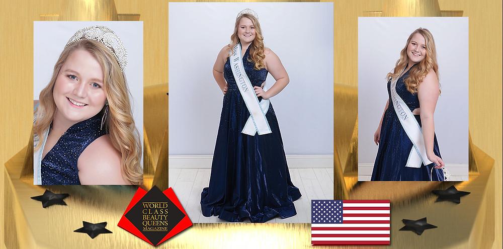 McKenna Morin IJM Miss Washington 2019, World Class Beauty Queens Magazine,