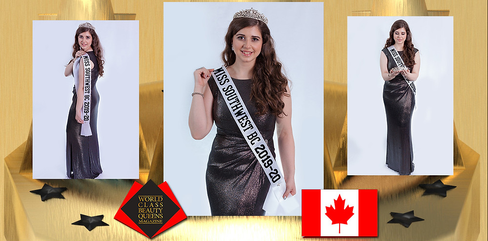 Eugenia Fasciani Miss Southwest British Columbia 2019/2020, World Class Beauty Queens Magazine, Photo Credit: Rod Francisco Photography  Makeup: Sephora Canada  Dress: Ralph Lauren