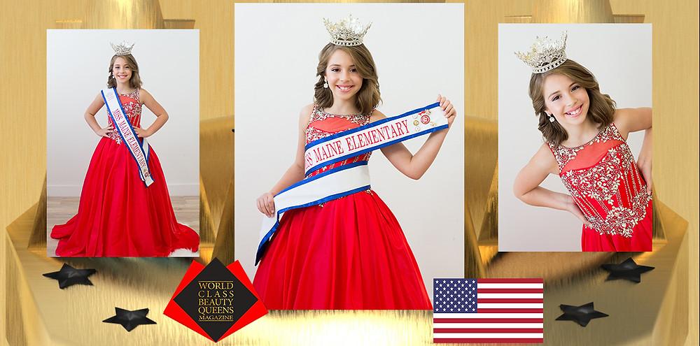 Bailey Raye Soucy Miss Maine Elementary 2020, World Class Beauty Queens Magazine