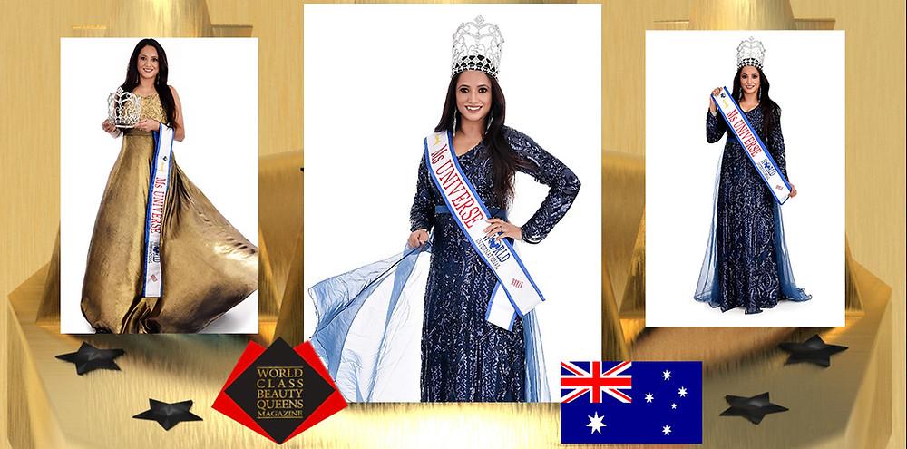 Sophia Rayat Ms Universe Woman 2019, World Class Beauty Queens Magazine,