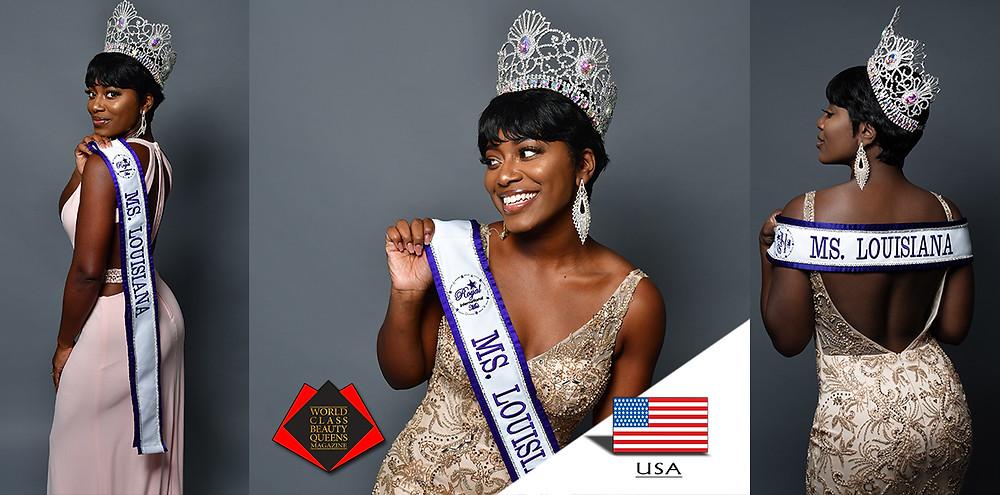 Makeva Armant-Muhammad Royal International Ms. Louisiana 2019, World Class Beauty Queens Magazine, Photo by Tony Chillz