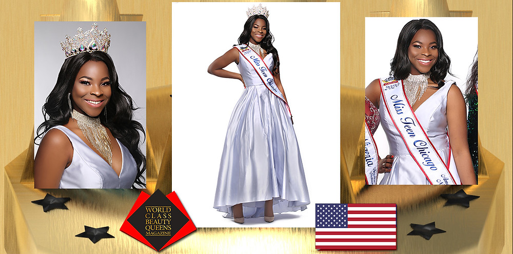 Chizurum Peace Akubue Miss Teen Chicago 2020, World Class Beauty Queens Magazine, Photo by Eva Flis Photography