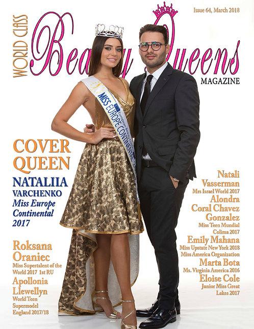 Issue 64 World Class Beauty Queens Magazine