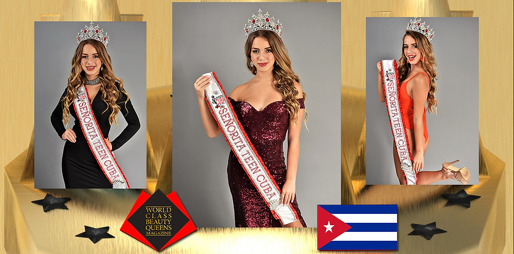 Angelina Asbert Senorita Teen Cuba 2020, World Class Beauty Queens Magazine,