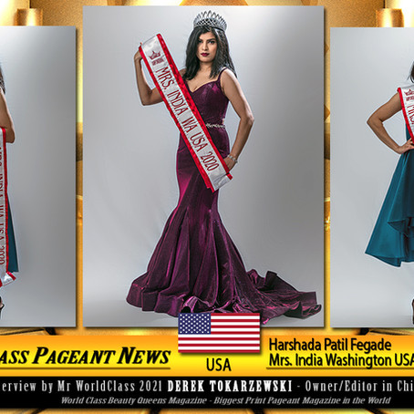 Harshada Patil Fegade Mrs. India Washington USA 2020