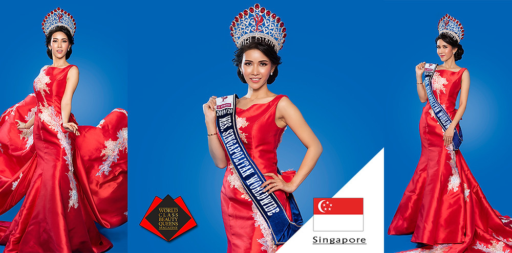 Natsiree Jampachuen MRS. Singapolitan Worldwide 2019/2020, World Class Beauty Queens Magazine, Photo by Indika Danthanarayana