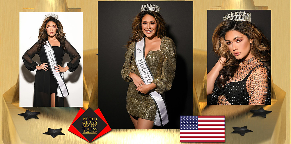 Blaine Ochoa Miss Houston USA 2019 , World Class Beauty Queens Magazine, Photos: Grant Foto Makeup: Kiss and Makeup Houston Provided by: Miss Academy
