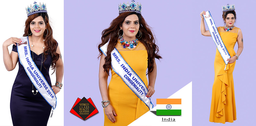 World Class Beauty Queens Magazine, Amita Yadav, Mrs India Universe 2018 Congeniality