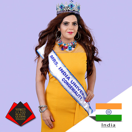 Amita Yadav Mrs India Universe 2018 Congeniality