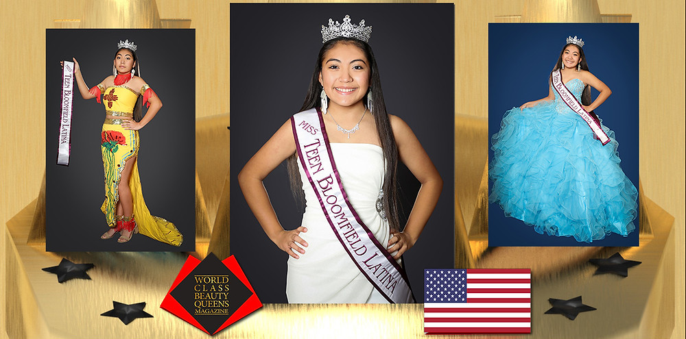 Alexia Castillo Miss Teen Bloomfield Latina 2019-20 , World Class Beauty Queens Magazine,