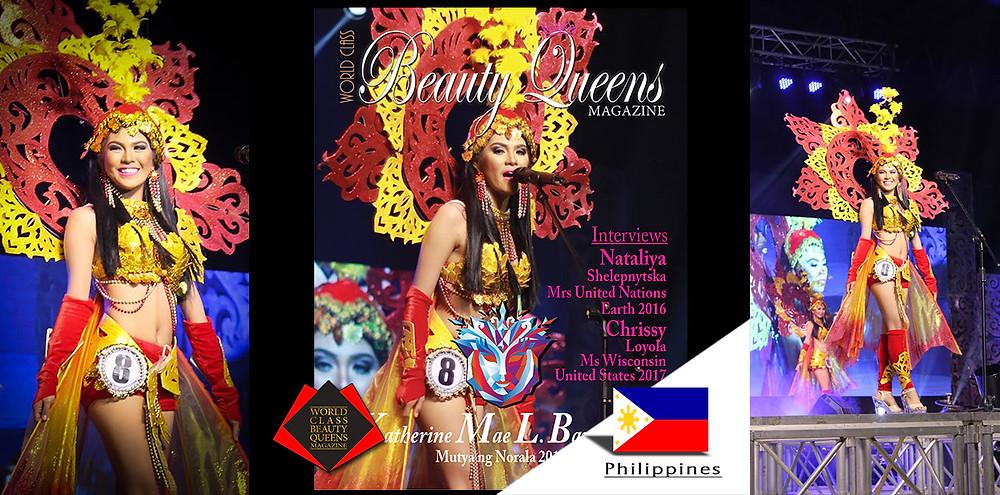 Katherine Mae L. Barrientos Mutya ng Norala 2017, World Class Beauty Queens Magazine,