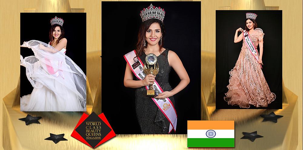 Shweta Maurya Mrs. India 2019 Worldwide Ambassador, World Class Beauty Queens Magazine,