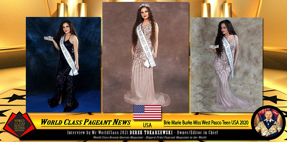 Brie Marie Burke Miss West Pasco Teen USA 2020, World Class Beauty Queens Magazine, Crista Taylor-Sbani of Woodside's Photography