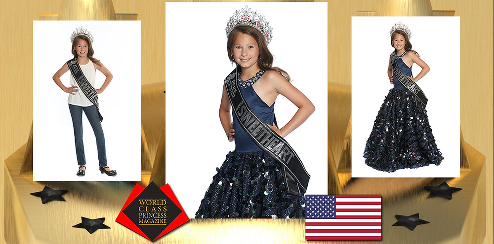 Michela Davis 2019 Little Miss America Sweetheart, World Class Princess Magazine,
