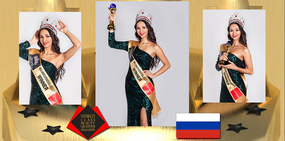 Alena Striletskaia Miss Lumiere international world 2019, World Class Beauty Queens Magazine,