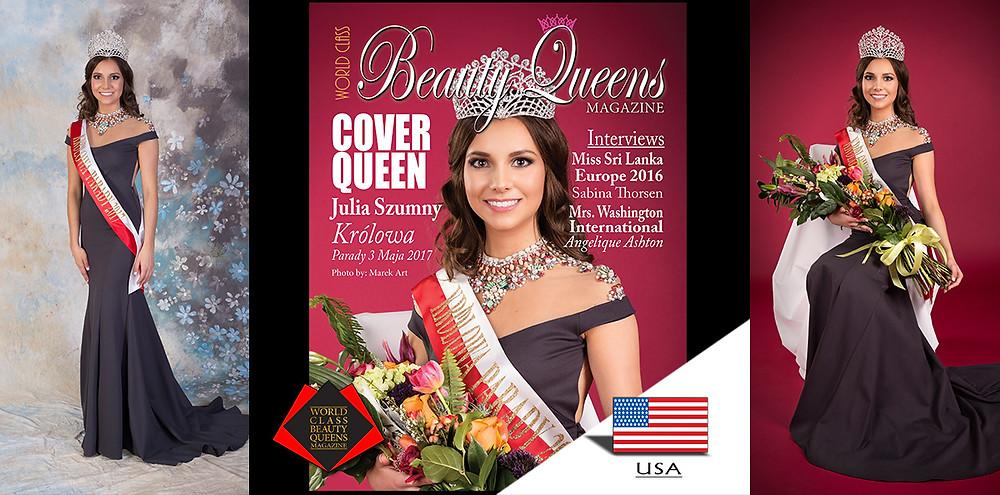 Julia Szumny KrólowaParady 3 Maja 2017, World Class Beauty Queens Magazine,