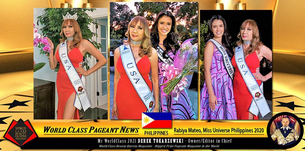 Rabiya Mateo Miss Universe Philippines 2020, Corazon Ugalde Yellen Armenta World Class Beauty Queens USA Ambassador 2021, Photo by Joey Yumul and Adrian Lecaros