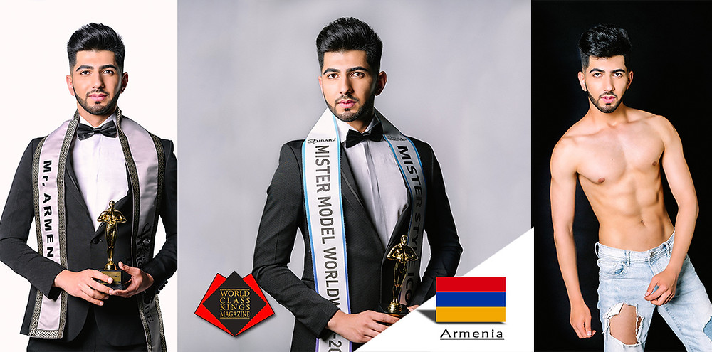 Edik Karapetyan Mr. Model World Wide 2018, World Class Kings Magazine