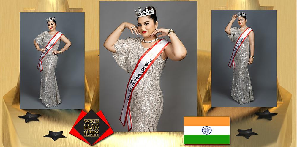 Amrit Kaur Classic Mrs India International Queen 2020 2nd Runner Up, World Class Beauty Queens Magazine,