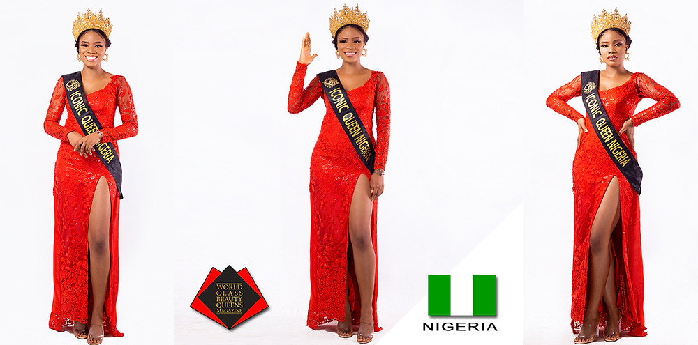 Nmesoma Joy Nwabuko Iconic Queen Nigeria 2020, World Class Beauty Queens Magazine, Photo by Clinx c photography