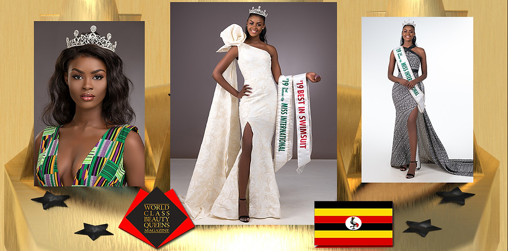 Evelyn Namatovu Kironde 2nd Runner Up Miss International 2019, World Class Beauty Queens Magazine,