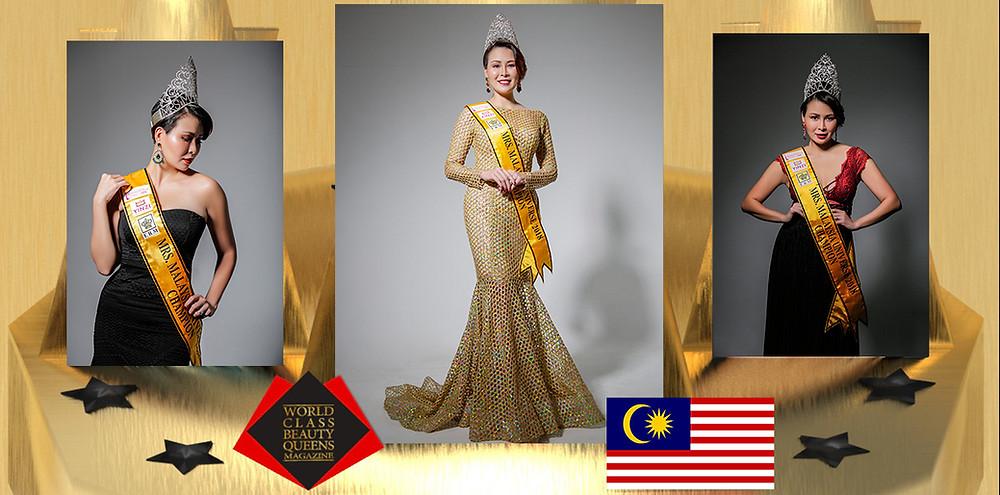 Dr Felicia Soong Suet-Wan Mrs Malaysia Universe 2018, World Class Beauty Queens Magazine,