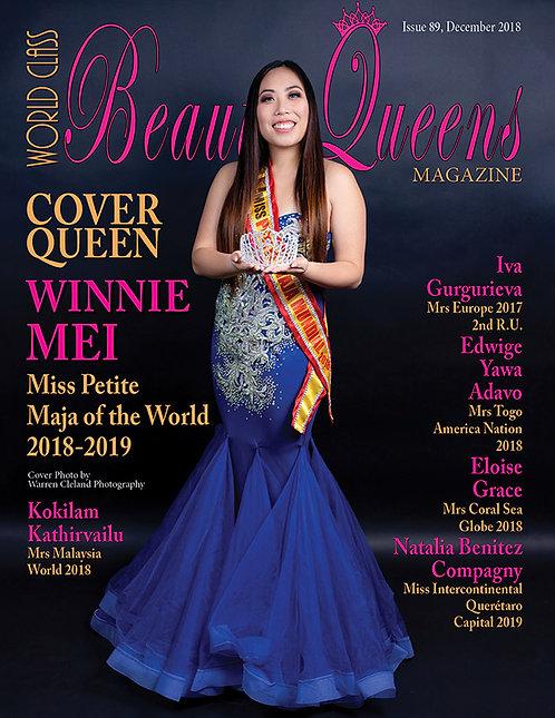 Issue 89 World Class Beauty Queens Magazine