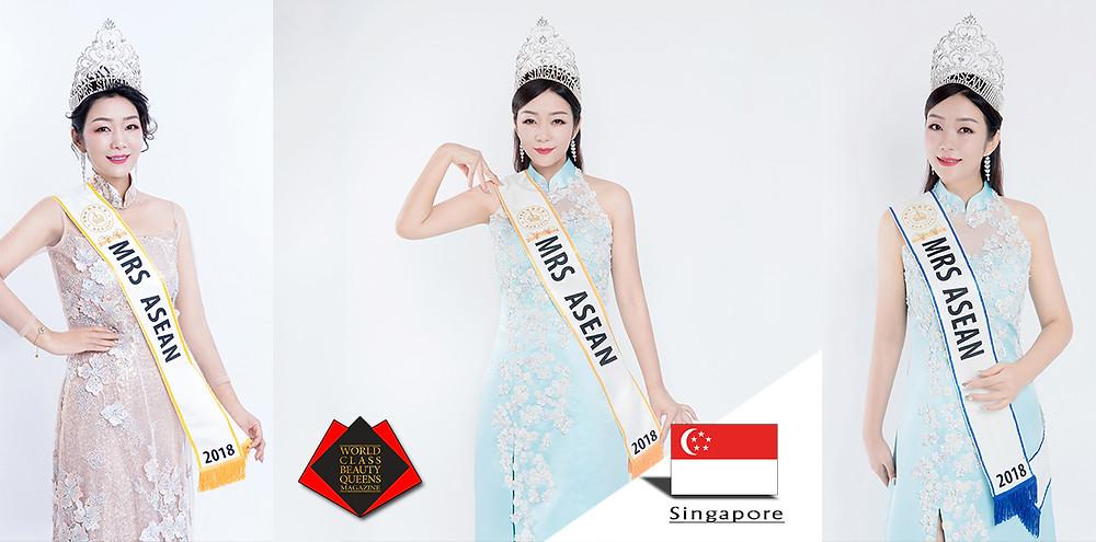 Li Yan Mrs Asean 2018, World Class Beauty Queens Magazine,