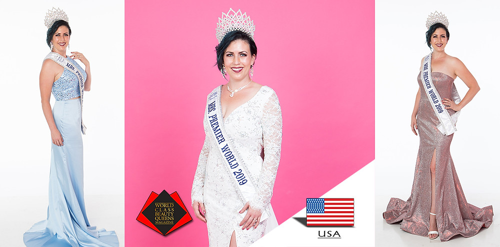 Shantel Reitz Mrs. Premier World 2019 , World Class Beauty Queens Magazine,