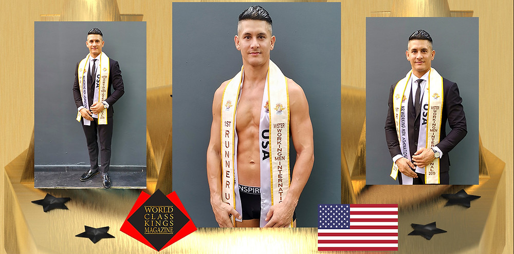 Luis Nava 1st Runner Up Mister Working Man International 2019, World Class Kings Magazine