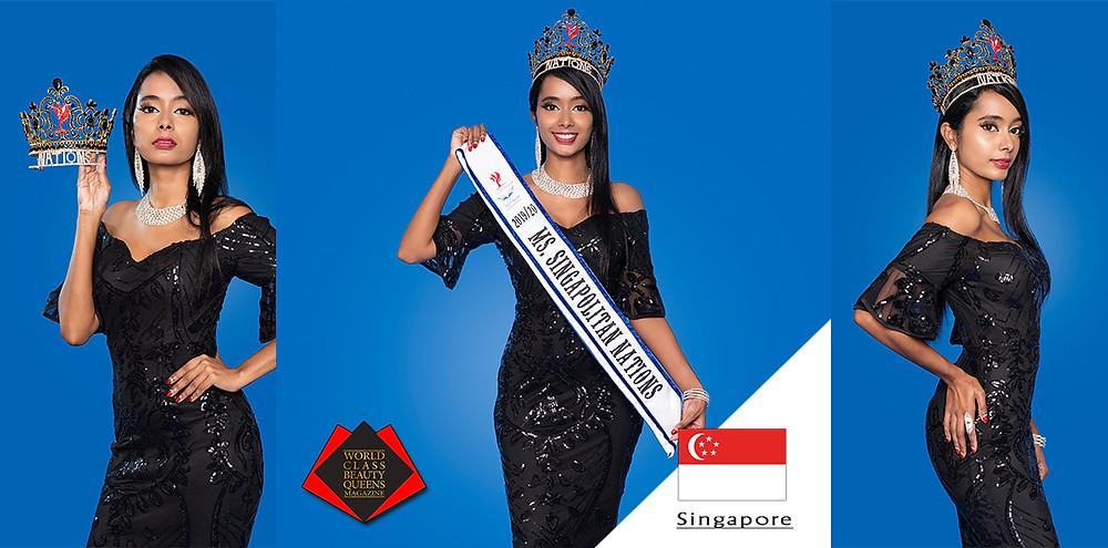 Tharini Thiyanamurthi Ms Singapolitan Nations 2019/20, World Class Beauty Queens Magazine,