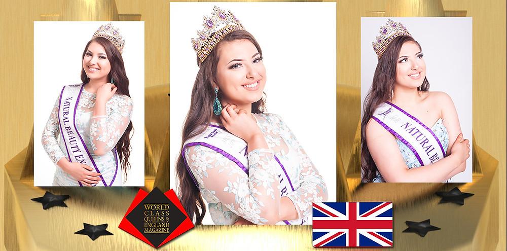Demi-Lee Mills Miss Natural Beauty England 2019/20, World Class Queens of England Magazine,