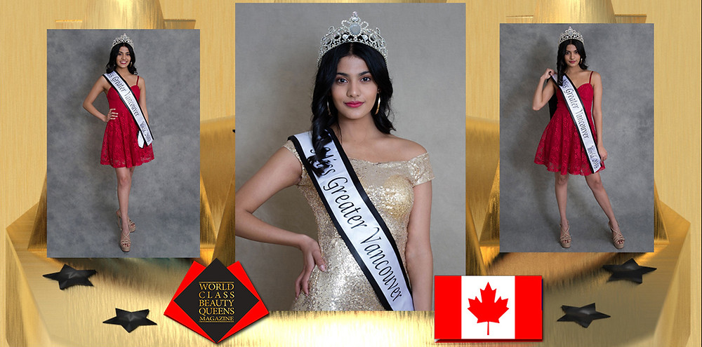Khushi Bimbrahw Miss Greater Vancouver World 2019, World Class Beauty Queens Magazine, Photo by Aubrey Trotter