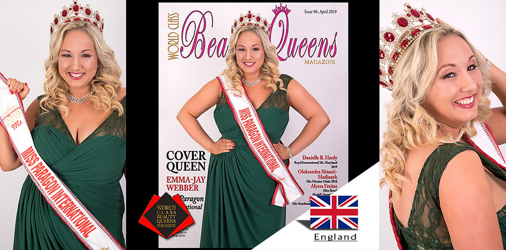 Emma-Jay Webber Ms Paragon International 2019, World Class Beauty Queens Magazine, Photo by Kevin English Photography