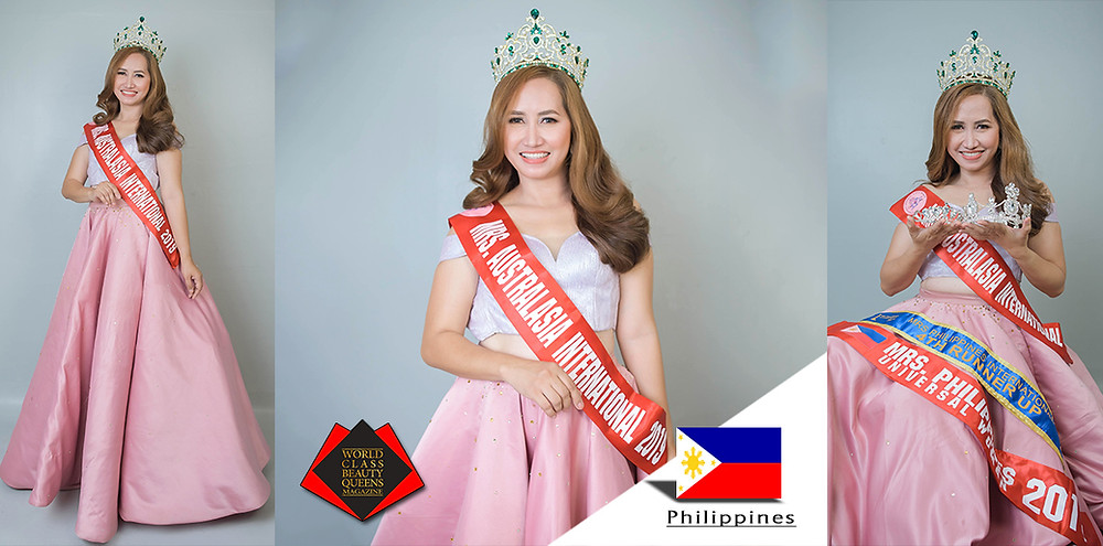 Maryjane Guerra Falcon- Marañag Mrs. Australasia International 2019, World Class Beauty Queens Magazine,
