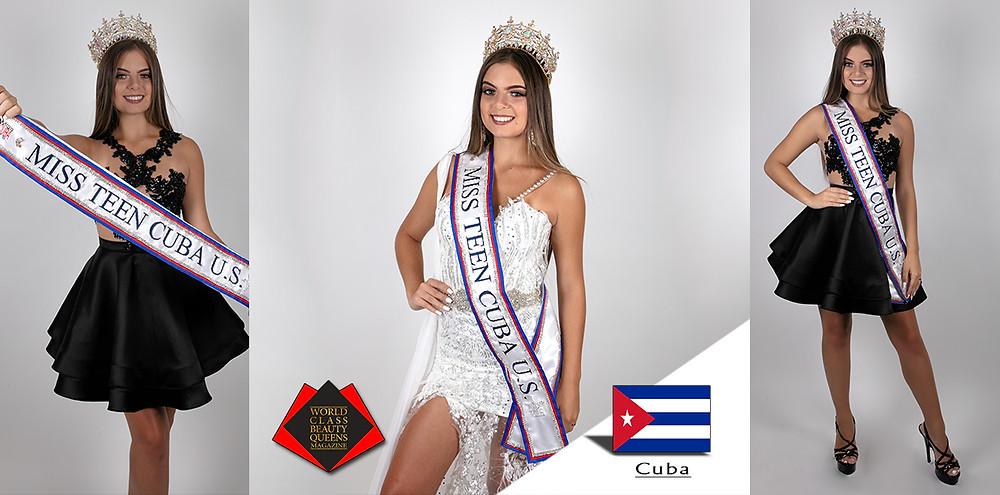 Veronica Delgado Miss Teen Cuba U.S 2019, World Class Beauty Queens Magazine,