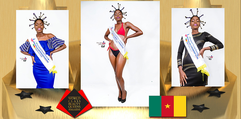 Mbena ziakou Perpetuates Isabelle Miss Style Intercontinental Cameroon Africa Beauty 2020, World Class Beauty Queens Magazine, Photo by: Blanco Photography, Make up: VLTV Beauty Salon