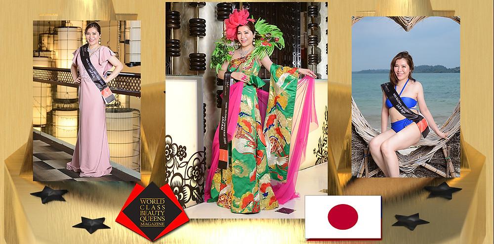 Miho Sugiyama Mrs Japan Global Universe 2020, World Class Beauty Queens Magazine,
